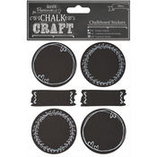 Doodle Circles - Chalk Craft Chalkboard Stickers