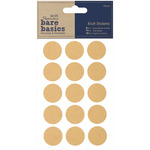 Circles - Papermania Bare Basics Kraft Stickers 60/Pkg