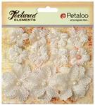 Ivory Textured Elements Burlap Mini Flowers - Petaloo