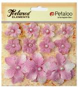 Lavender Textured Elements Burlap Mini Flowers - Petaloo