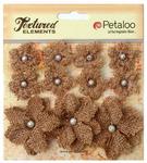 Natural Textured Elements Burlap Mini Flowers - Petaloo