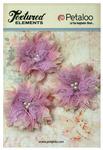 Lavender Textured Elements Burlap Bird's Nest Flowers - Petaloo