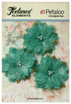 Teal Textured Elements Burlap Bird's Nest Flowers - Petaloo