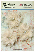 Ivory Textured Elements Burlap Bird's Nest Flowers - Petaloo