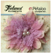 Lavender Large Textured Elements Burlap Bird's Nest Flower - Petaloo