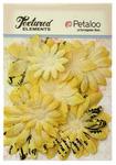 Yellow Burlap Canvas Daisy Layers Textured Elements - Petaloo