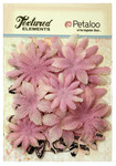 Lavender Burlap Canvas Daisy Layers Textured Elements - Petaloo