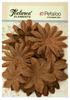 Natural Burlap Canvas Daisy Layers Textured Elements - Petaloo