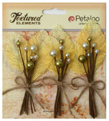 Yellow Burlap & Berry Picks Textured Elements - Petaloo