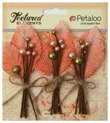 Apricot Burlap & Berry Picks Textured Elements - Petaloo