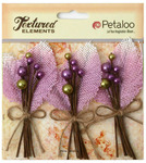Lavender Burlap & Berry Picks Textured Elements - Petaloo