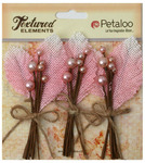 Pink Burlap & Berry Picks Textured Elements - Petaloo