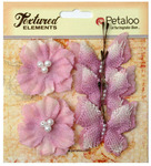 Lavender Butterflies & Blossoms Textured Elements - Petaloo
