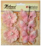 Pink Butterflies & Blossoms Textured Elements - Petaloo
