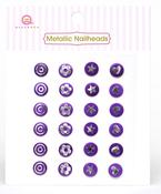 Purple Metallic Nailheads - Queen & Co