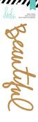 Beautiful Wood Veneer Title - Wanderlust - Heidi Swapp