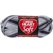 Red Heart Soft Yarn - Greyscale