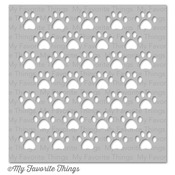 Staggered Paw Prints - My Favorite Things MIX - ables Stencil