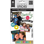 Family Love Paper Stickers - Pocket Pages - Me & My Big Ideas