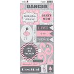 Tiny Dancer Cardstock Stickers