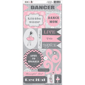 Tiny Dancer Cardstock Stickers
