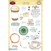 Coffee House - JustRite Papercraft Clear Stamp Set