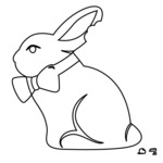 "Gourmet Rubber Stamps Cling Stamps 2.75""X4.75""-Chocolate Bunny"