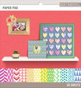 "Brights, 12 Designs/3 Each - Basics 8.5""X8.5"" Paper Pad 36/Pkg"