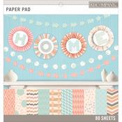 """Pastels, 20 Designs/4 Each - Basics 12""""X12"""" Paper Pad 80/Pkg"""
