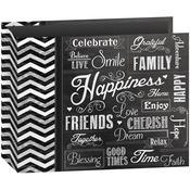 "Happiness - 3-Ring Binder Chalkboard Album 12""X12"""