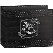 "Shared - 3-Ring Binder Chalkboard Album 12""X12"""