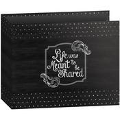 "Shared - 3-Ring Binder Chalkboard Album 12""X12"""