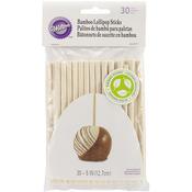 "Bamboo Lolli Sticks 5"" 30/Pkg"