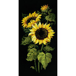"""9.75""""X19.75"""" 10 Count - Sunflowers Counted Cross Stitch Kit"""