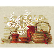 """11.75""""X9.5"""" 14 Count - Tea Counted Cross Stitch Kit"""