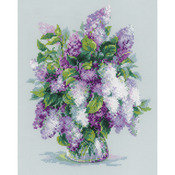 "9.5""X11.75"" 14 Count - Gentle Lilac Counted Cross Stitch Kit"
