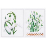"Snowdrops Panel On Aida Counted Cross Stitch Kit-13.25""X8.75"" 18 Count"