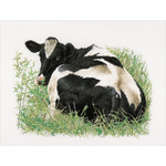 """23.5""""X17.75"""" 16 Count - Cow (Back) On Aida Counted Cross Stitch Kit"""