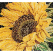 "6""X5.5"" 18 Count - Sunflower On Aida Counted Cross Stitch Kit"