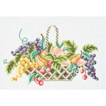 """11""""X15.75"""" 12 Count - Fruit Basket On Aida Counted Cross Stitch Kit"""
