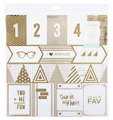 Gold Foiled Acetate Cut-up Paper - Poolside - Crate Paper