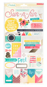 Poolside Gold Foil Accent Stickers - Crate Paper