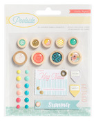 Poolside Layered Embellishments - Crate Paper