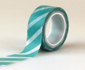 Teal Stripe Decorative Tape - Carta Bella