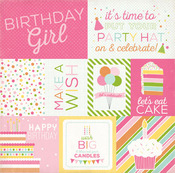 journaling cards paper birthday wishes girl echo park paper