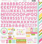 Birthday Wishes - Girl - Alpha Stickers - Echo Park