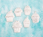 Cupcakes Resin Shabby Chic Treasures - Prima