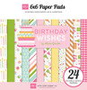 Birthday Wishes - Girl - 6 x 6 Paper Pad - Echo Park