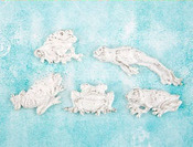 Frogs Resin Shabby Chic Treasures - Prima