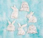 Rabbits Resin Shabby Chic Treasures - Prima
